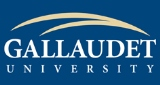 Gallaudet University Logo with blue background