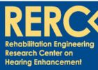 RERC on Hearing Enhancement logo